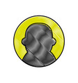 grated avatar user social profile person vector image