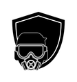 mask gas and shield icon vector image