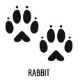rabbit step icon simple style vector image
