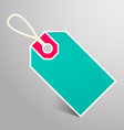 Retro Empty Blue and Red Paper Label with String vector image