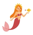 Mermaid nixie character vector image