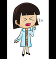 Woman with toothache vector image