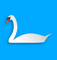 Swan on blue vector image vector image