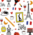 Seamles pattern with Paris symbols vector image