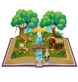 Book about magical forest vector image