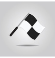 soccer waving referee flag icon vector image