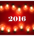 Happy New 2016 Year Christmas Lights vector image
