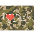 Cards I love daddy Happy fathers day vector image