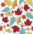 autumn leaf pattern seamless vector image