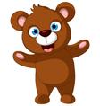 baby brown bear cartoon posing vector image