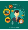 Business customers service and support concept vector image
