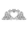 floral heart frame for design vector image