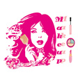 Make-up girl - abstract portrait vector image