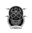motorcycle modern skull background image vector image