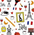 Seamles pattern with Paris symbols vector image