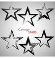 Set grange stars vector image