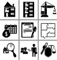 Set icon of real estate vector image