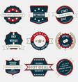 Set of business labels and ribbons in vintage vector image