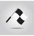 soccer waving referee flag icon vector image