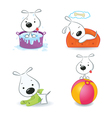 puppy dog set vector image vector image