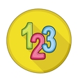 123 blocks flat icon vector image