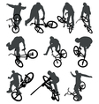 Flatland BMX silhouettes vector image