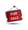 For sale icon banner selling a house apartment or vector image