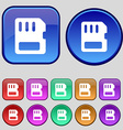 compact memory card icon sign A set of twelve vector image