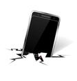 smartphone in crack vector image