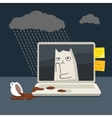 Concept of bad day vector image
