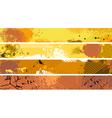 Grunge Orange Banner Set vector image vector image