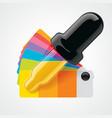 color picker icon vector image vector image