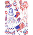 America doodles vector image