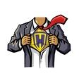 color Superhero vector image