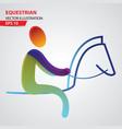 equestrian color sport icon vector image