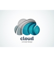 Cloud logo template remote hard drive storage or vector image vector image