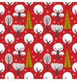 Winter seamless background vector image vector image
