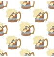 Beer mugs seamless vector image vector image