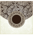 circle vintage template vector image vector image
