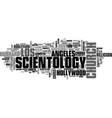 Scientology word cloud concept vector image