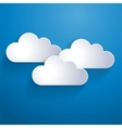 Network template clouds vector image
