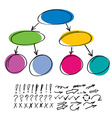 Set include markers elements vector image