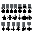 Military medals vector image