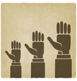 hands up concept vector image