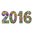 new year inscription 2016 hand written vector image