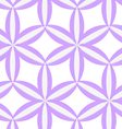 3D colored purple geometrical flower vector image