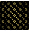 seamless black-gold texture vector image