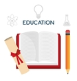 Graduate education design vector image vector image