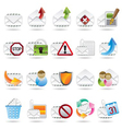mail and letter icons vector image vector image