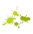 Paintball green blots flat icon vector image
